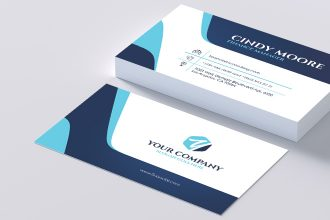 Free Financial Consulting Business Card in PSD