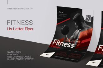 Free Fitness Flyer in PSD