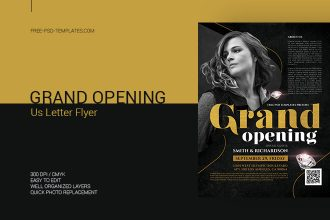 Free Grand Opening Flyer in PSD