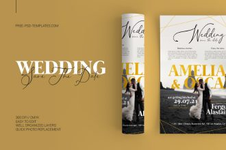 Free Wedding Save The Date in PSD
