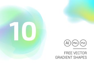 10 Free Vector Gradient Shapes
