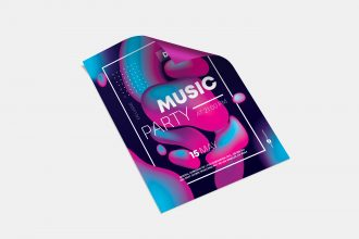Free Music Party Flyer in PSD