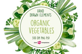 Free Organic Vegetables Watercolor