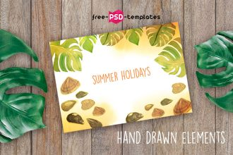 Free Summer Holidays Postcard