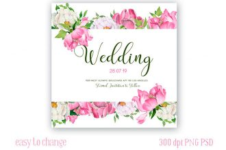 Free Wedding Peonies Watercolor