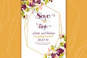 Free Wedding Template Watercolor