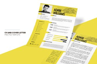 Free CV Resume Template in PSD