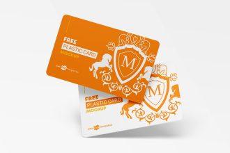 Free Plastic Cards Mockup Set