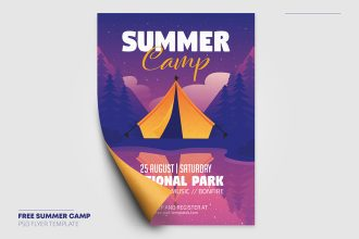 Free Summer Camp Flyer in PSD