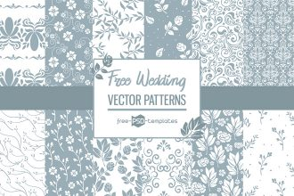 Free Vector Wedding Patterns Set Template