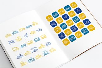 Free 25 Transport Icons Set Templates V02