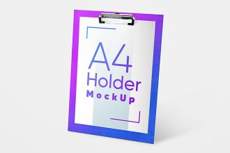 Free A4 Holder Mockup Set