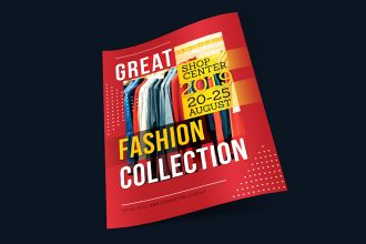 Free Great Fashion Collection Flyer Template
