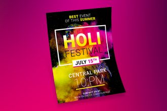 Free Holi Festival Flyer