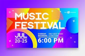 Free Music Festival Banner Set