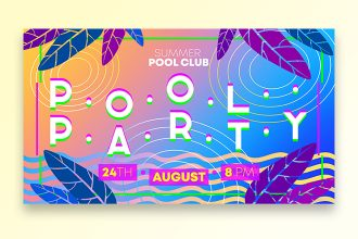 Free Pool Party Banner Set