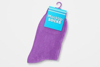 Free Socks Mockup Set