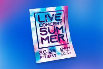 Free Summer Live Concert Flyer