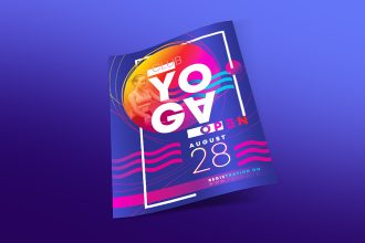 Free Yoga Club Flyer Template