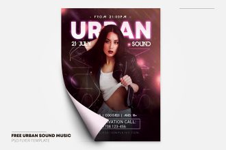 Free Urban Sound Flyer in PSD