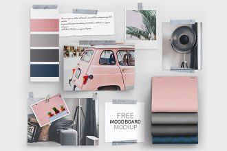 Free Mood Board Set Template in PSD