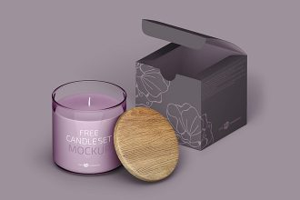 Free Candle Set Template in PSD