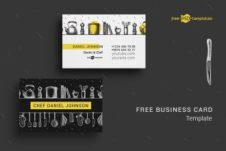 Free Chef Business Card in PSD