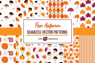 12 Free Autumn Vector Patterns Set