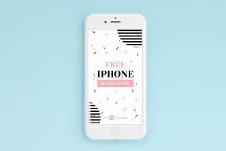 Free iPhone PSD Mockup Set Templates