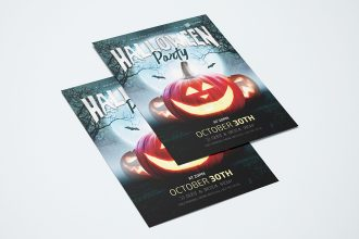 Free PSD Halloween Party Flyer Template