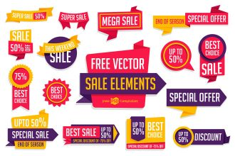 Free Vector Sale Element Collection