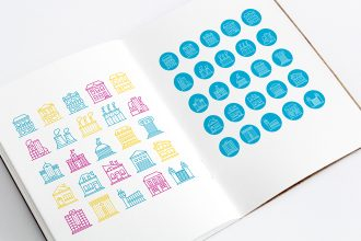 Free 25 Buildings Icons Set Templates V02