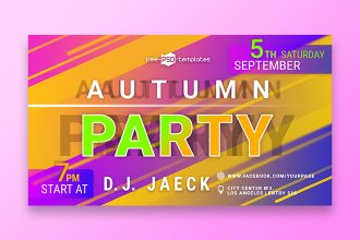Free Autumn Party Banner Set Template