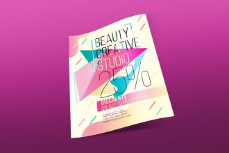Free Beauty Creative Studio Flyer Template