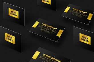 Free Business Card Mockup Set V05