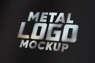 Free Metal Logo Mockup Set