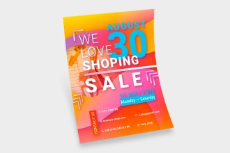 Free We Love Shopping Sale Flyer Template
