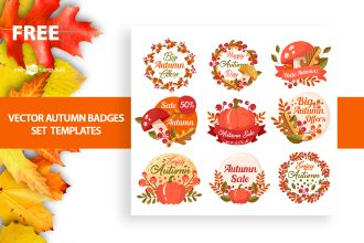 Free Autumn Badges Set Templates