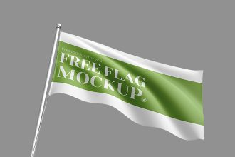 Free Flag Mockup Template in PSD