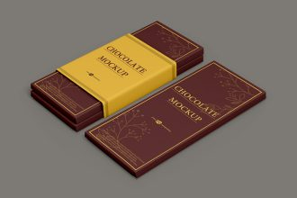 Free Chocolate Bar Mockup Templates in PSD