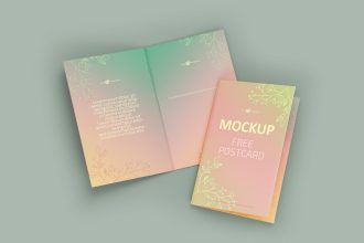 Free Postcard Mockup Template in PSD