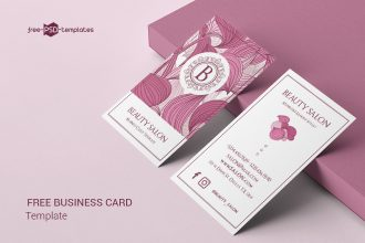 Free Beauty Salon Business Card Template