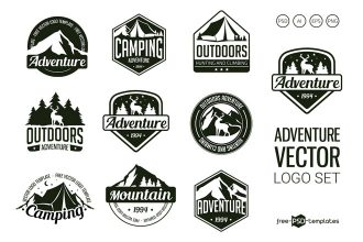 Free Vector Adventure Logo Set Template