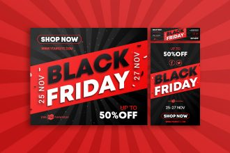 15 Free Black Friday Banners Collection in PSD