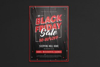 Free PSD Black Friday Flyer Template