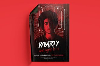 Free DJ Party Flyer Template in PSD