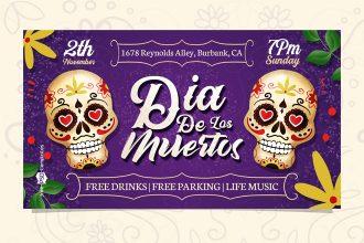 Free Dia De Los Muertos Facebook Event Page Template