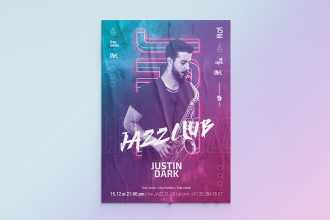 Free Jazz Flyer Template in PSD