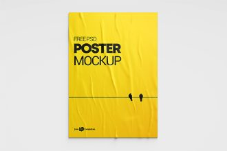 3 Free Poster PSD Mockups Templates