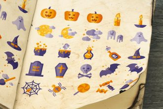 Free 25 Halloween Icons Set Templates